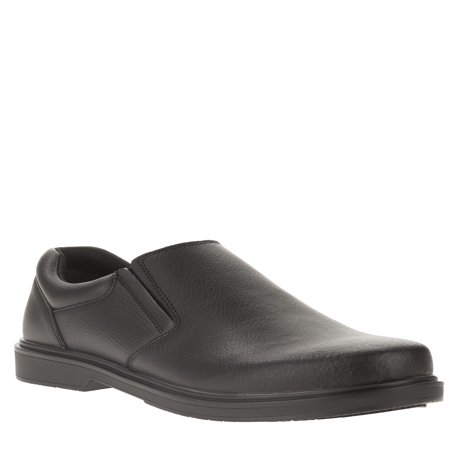 Tredsafe Men's Roland Slip Resistant Slip On (Black Leather Slip On Shoes For Men)