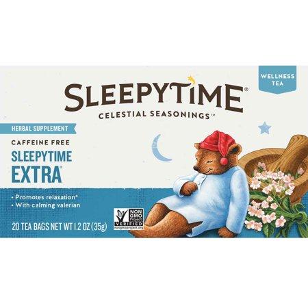 (6 Boxes) Celestial Seasonings Herbal Tea, Sleepytime Extra, 20 Count