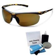 e711058703 Suncloud Zephyr Polarized Sunglasses  Tortoise  Brown Polycarbonate +  Cleaning Kit