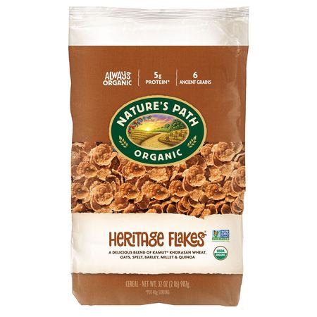 - Nature's Path Organic Heritage Flakes Cereal Ancient Grains 32 oz.
