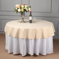"Efavormart 5pcs of Black 70"" Round Polyester Tablecloth for Kitchen Dining Catering Wedding Birthday Party Decorations Events"