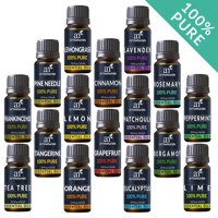 Pure Essential Oil Set (16x10mL) - 100% Natural Aromatherapy for Oil Diffuser