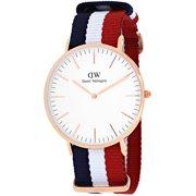 Daniel Wellington Classic Cambridge White Dial Canvas Strap Men's Watch 0103DW