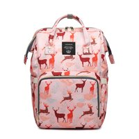 Diaper Bag Multi-Function Waterproof Travel Backpack Nappy Bags for Baby Care with Large Capacity (Pink)