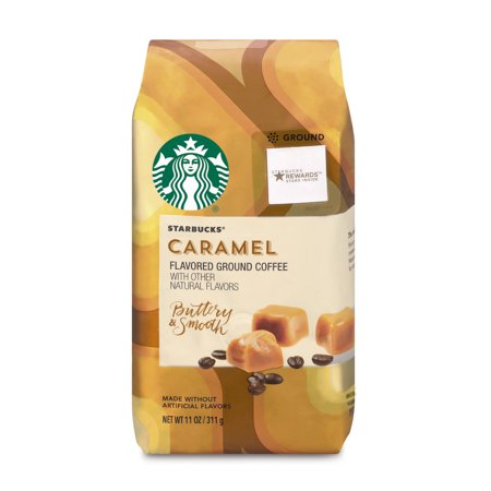 Starbucks Caramel Flavored Ground Coffee, 11-Ounce Bag - Heritage White Coffee