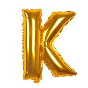 unique bargains 40 gold tone foil letter k balloon helium birthday wedding festival decor