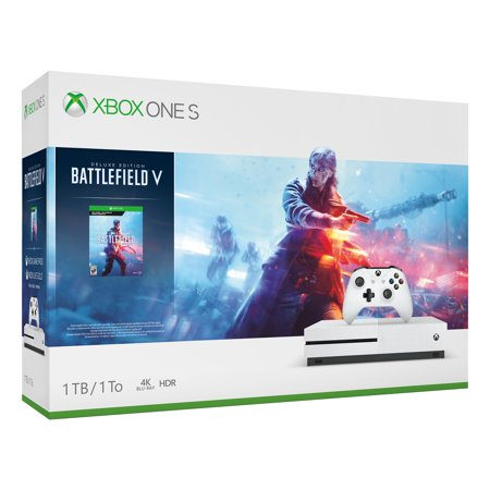 Microsoft Xbox One S 1TB Battlefield V Bundle, White,