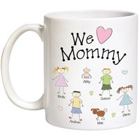 Personalized Heart Character Coffee Mug, 15oz
