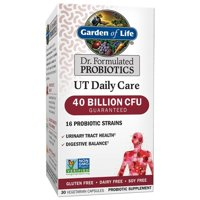 Garden of Life Dr. Formulated Urinary Tract Probiotic Capsules, 40 Billion CFU, 30 Ct