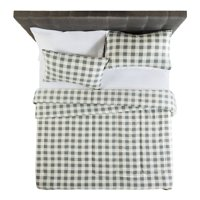 Mainstays Flannel Buffalo Grey Plaid Comforter Set