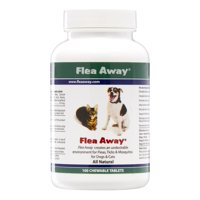 Flea Away Natural Flea, Tick, & Mosquito Repellent for Dogs and Cats, 100 Chewable Tablets