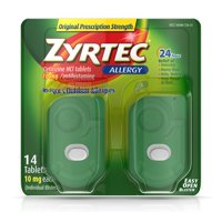 Zyrtec 24 Hour Allergy Relief Tablets with 10 mg Cetirizine HCl, 14 ct