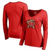 f26591892fb0 Maryland Terrapins Fanatics Branded Women's Primary Logo Long Sleeve T-Shirt  - Red