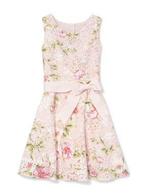Floral Printed Lace Easter Dress (Little Girls & Big Girls)