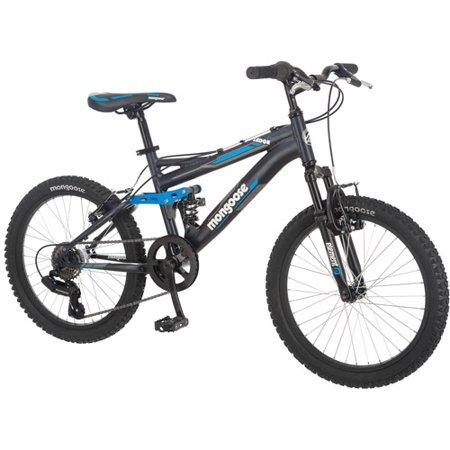 """20"""" Mongoose Ledge 2.1 Boy's Mountain Bike, Black"""