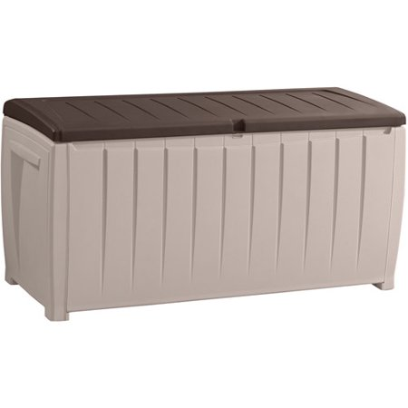 Keter Novel 90-Gal Outdoor Plastic Deck Box, Brown ()