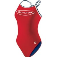 TYR Guard Female Dimaxback (DMGU1A) - Red - 32