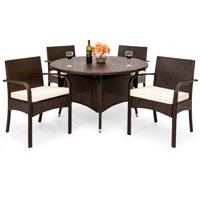 Best Choice Products 5-Piece Outdoor Patio Wicker Dining Set
