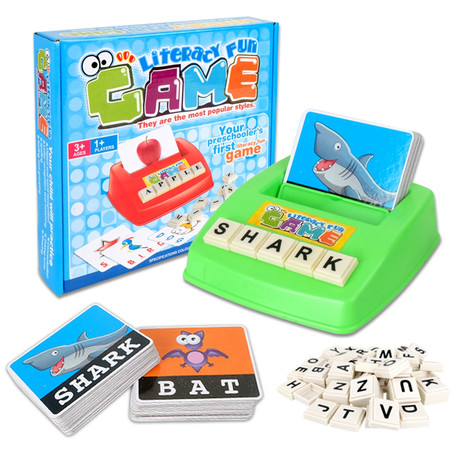 Early Learning Educational Toy 26 English Letter Spelling Alphabet Game Figure Spelling Game Platter Puzzle Spell Words Toys for 3 year old Toddlers, Kids and Adults - Halloween Party Games For 16 Year Olds