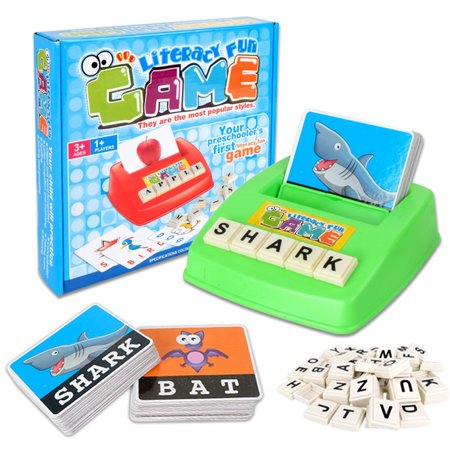 Early Learning Educational Toy 26 English Letter Spelling Alphabet Game Figure Spelling Game Platter Puzzle Spell Words Toys for 3 year old Toddlers, Kids and Adults](Games For 4 Year Old)