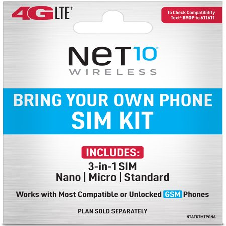 Net10 Bring Your Own Phone SIM Kit - AT&T GSM