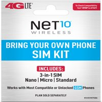 Net10 Bring Your Own Phone SIM Kit - AT&T GSM Compatible
