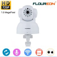 FLOUREON WiFi IP Camera 720P HD Wireless Camera Baby Pet Monitor Surveillance Home Security Camera Nanny IP Cam Pan/Tilt with Motion Detection Two-Way Audio Night Vision