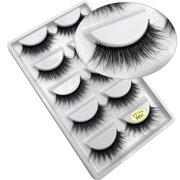 0069a4c1588 Mink Fur 3D False Eyelashes Kit, 10 Lashes Fake Eyelashes, Soft Flexible False  Eyelashes