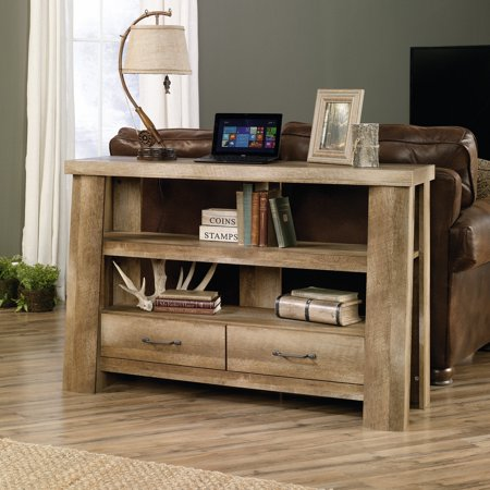 """Sauder Boone Mountain Anywhere Console, for TVs up to 47"""", Craftsman Oak Finish"""