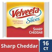 Velveeta Sharp Cheddar Cheese Slices 16 slices - 12 oz Wrapper