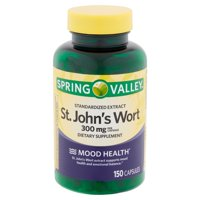 Spring Valley Standardized Extract St. John's Wort Capsules, 300 mg, 150 count