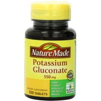 2 Pack - Nature Made Potassium Gluconate 550 mg Tablets 100 ea