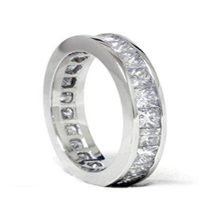 3ct Channel Set Diamond Eternity Ring 950 - Palladium Set Ring
