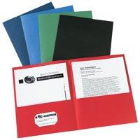 Avery Two-Pocket Folders, 25 Folders Assorted Colors (47993)