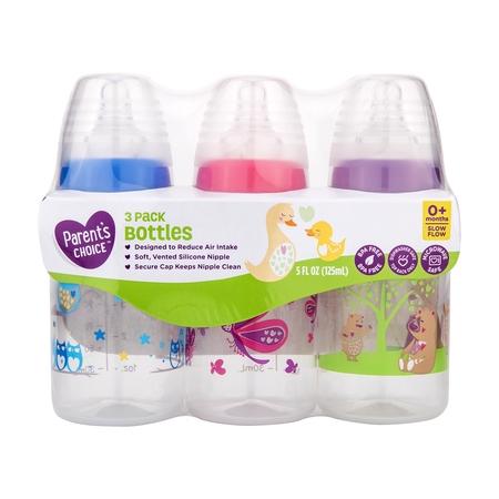 Parent's Choice BPA Free Bottles, 5 oz, 3 Pack](Vitameatavegamin Bottle)