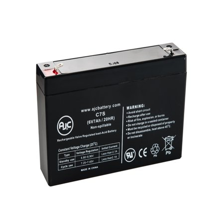 Abc Ups Replacement Battery - Enduring 3FM7.5, 3-FM-7.5 6V 7Ah UPS Battery - This is an AJC Brand Replacement