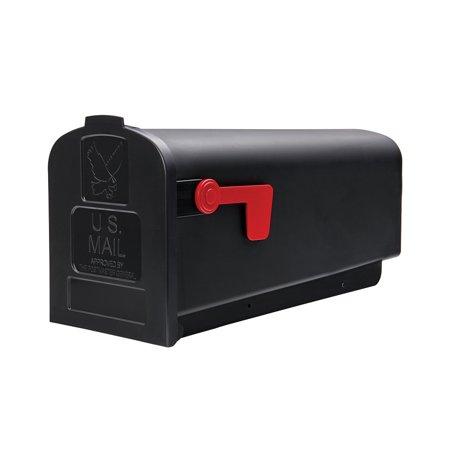 Gibraltar Parsons Medium, Plastic, Black Post Mount - Craft Mailbox