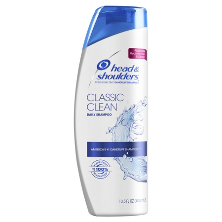 Quick Clean Waterless Shampoo - Head and Shoulders Classic Clean Daily-Use Anti-Dandruff Shampoo, 13.5 fl oz