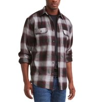 Men's Long Sleeve Flannel Shirt, Up To 5XL