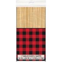 Buffalo Plaid Lumberjack Plastic Party Tablecloth, 84 x 54in