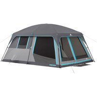 Ozark Trail 14' x 10' Half Dark Rest Frp Cabin Tent, Sleeps 10