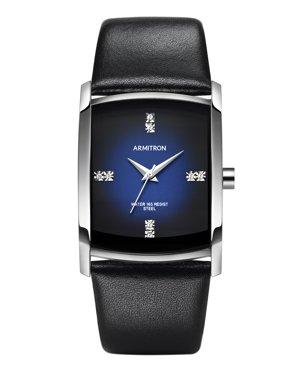 Men's Dress Sport Watch, Black Leather Strap