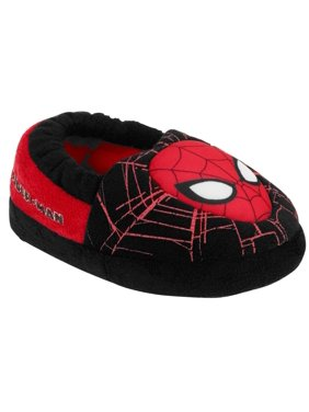 Marvel Comics Toddler Boys Black Spiderman Slippers Spider-Man House Shoes 5-6