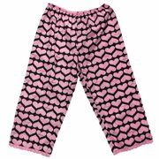 be0e2e6189 Womens Black   Pink Heart Valentine Sleep Pants Love Capri Pajama Bottoms  Medium