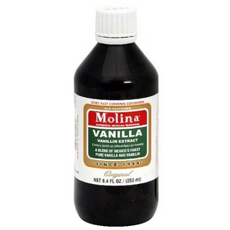Kosher Vegan Vanilla Extract - (5 Pack) Molina Vanilla Extract, 8.3 fl oz