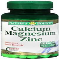 Nature's Bounty Calcium Magnesium Zinc Caplets 100 ea (Pack of 6)