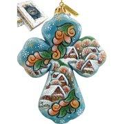 G Debrekht Winter Village Cross Ornament