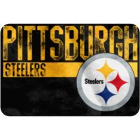 """NFL Pittsburgh Steelers """"Worn Out"""" Mat, 20"""" x 30"""""""
