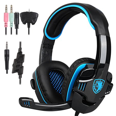 SADES ME333 Gaming Headset GT Stereo HiFi Gaming Headset Headphone with Microphone for PS4 Xbox360 PC Mac SmartPhone