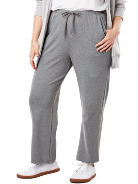 Woman Within Plus Size Petite Sport Knit Straight Leg Pant